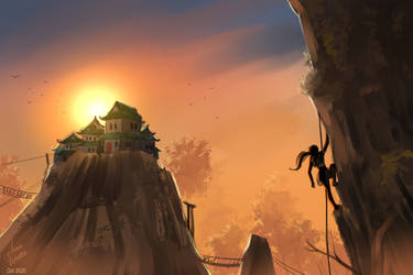 Landscape 001 Speed Painting by JericaWinters