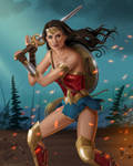 Wonder Woman Attacks by JericaWinters