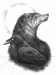 The Raven The Wolf by IanWinchester