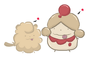 Shiny Swirlix and Slurpuff