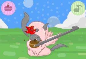 Absol Pokemon Amie Commission  for Dragonairgod