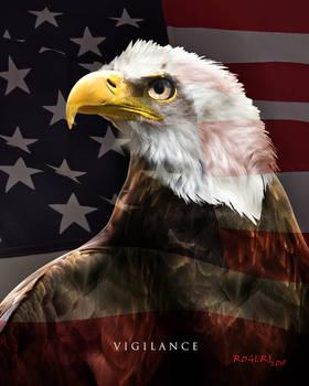 Bald Eagle Flag