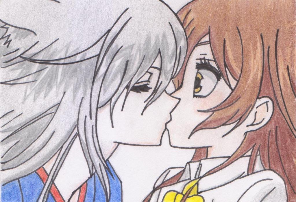 картинки поцелуй томоэ и нанами