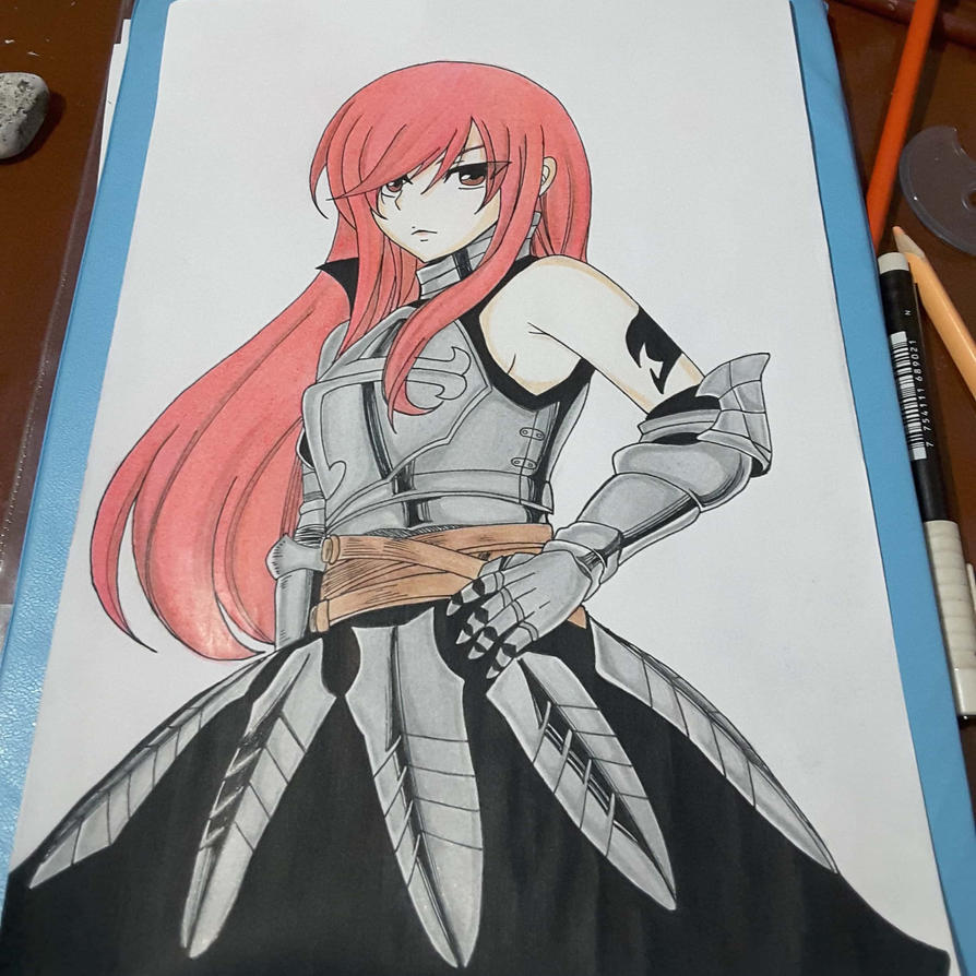 Erza Scarlet Wallpaper: Erza Scarlet By Pauliss1 On DeviantArt