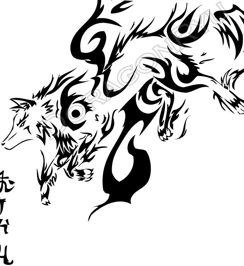 Tribal Wolf Wallpaper: Wolf Tribal Art Vector By DoragonRyu On DeviantArt