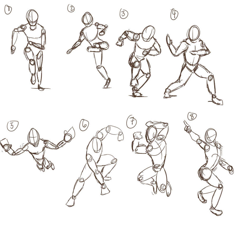Character Design Poses : Character poses by doragonryu on deviantart