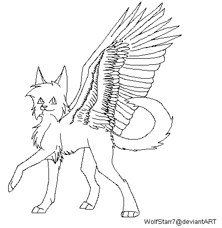 friendly wolf coloring pages - photo#23