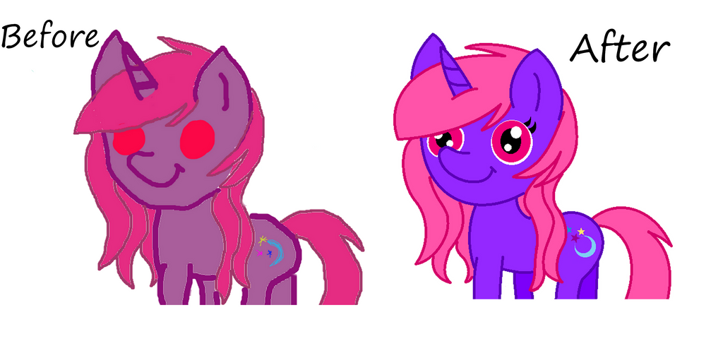 Computer drawing made with mouse of my OC Bef./aft by Wonder-Twily