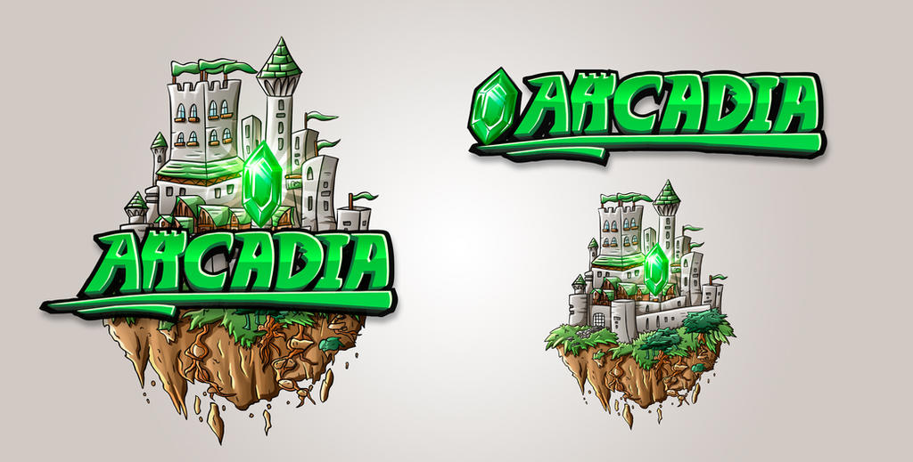 Minecraft Server Logo Design - Arcadia by FinsGraphics on DeviantArt