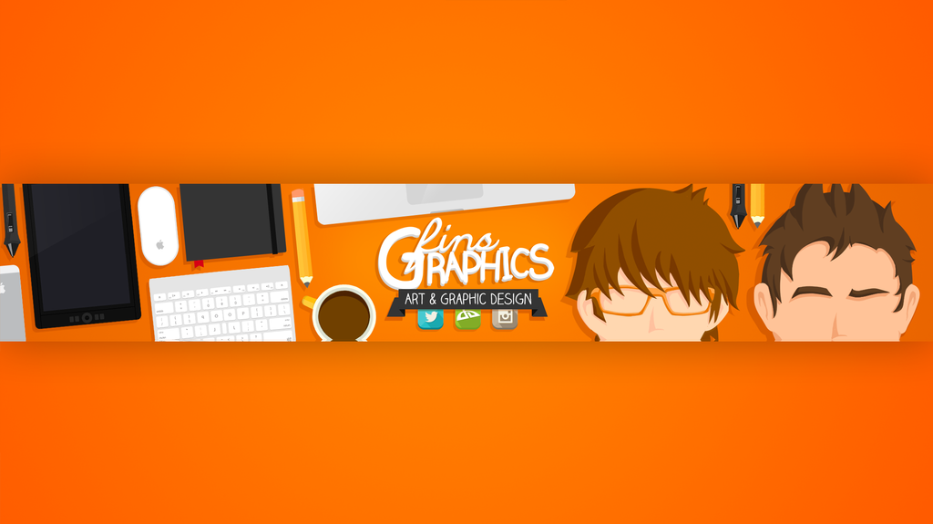 My New Youtube Channel Banner (FinsGraphics) by FinsGraphics