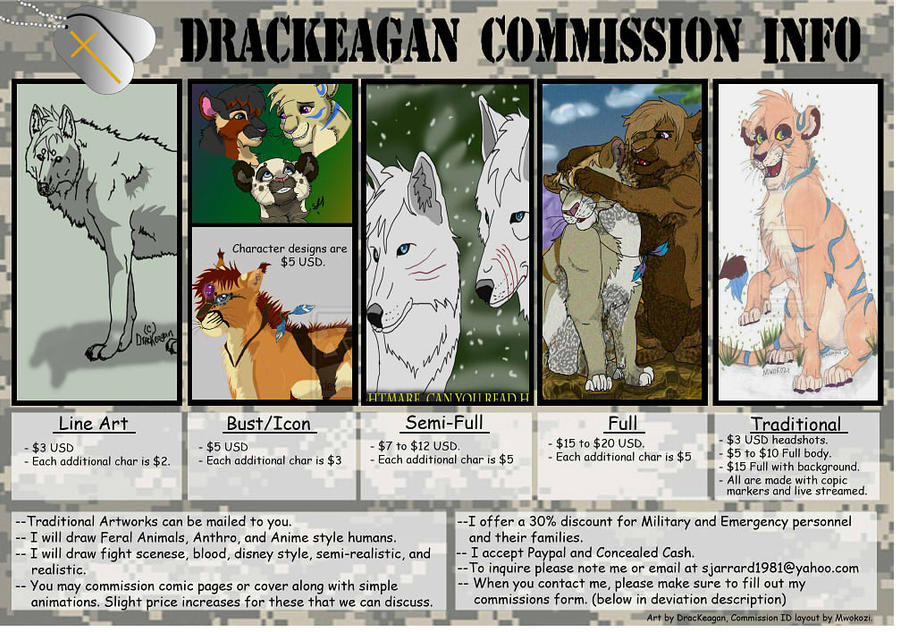 Drackeagan Commish Prices by DracKeagan