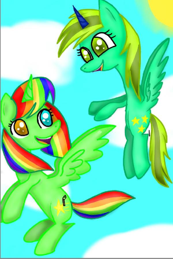 Rainbow Shiningstar and Starlight Night  by SuhaiCo
