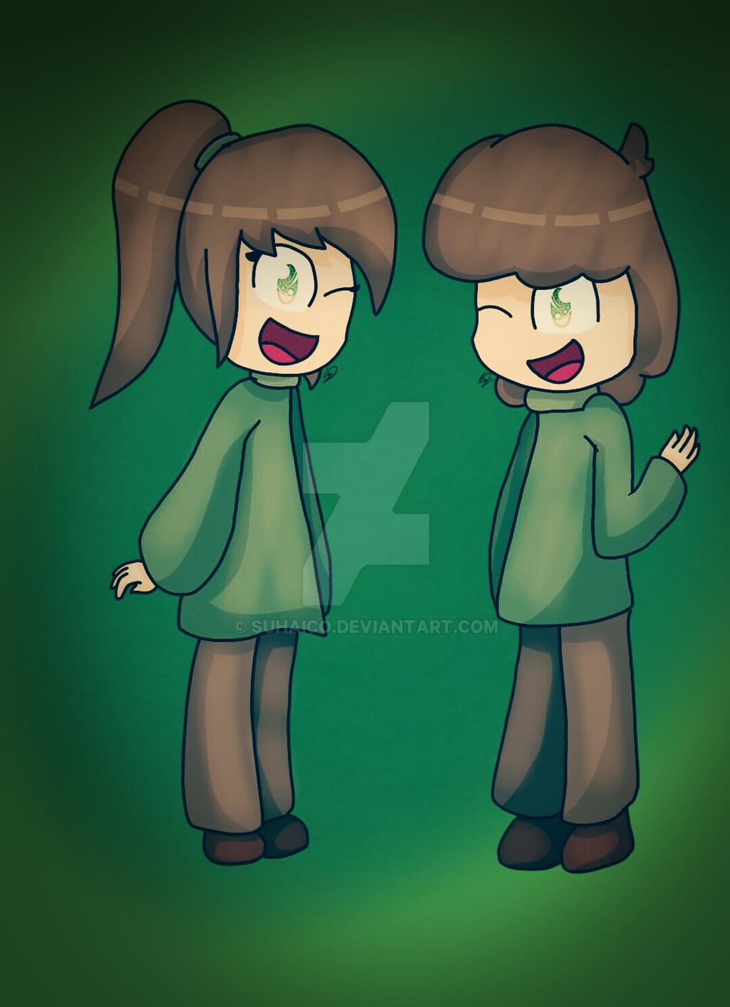 Glitchtale - Lily and Cam  by SuhaiCo