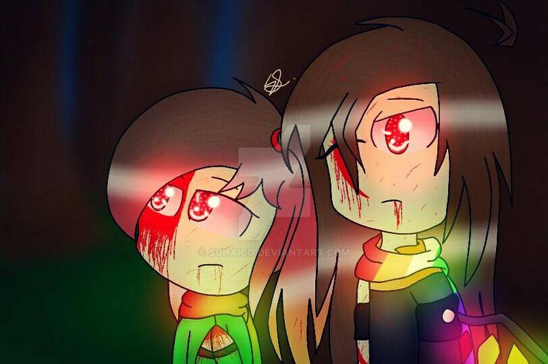 Oc sisters - Niji Kenji and Teruko Kenji by SuhaiCo