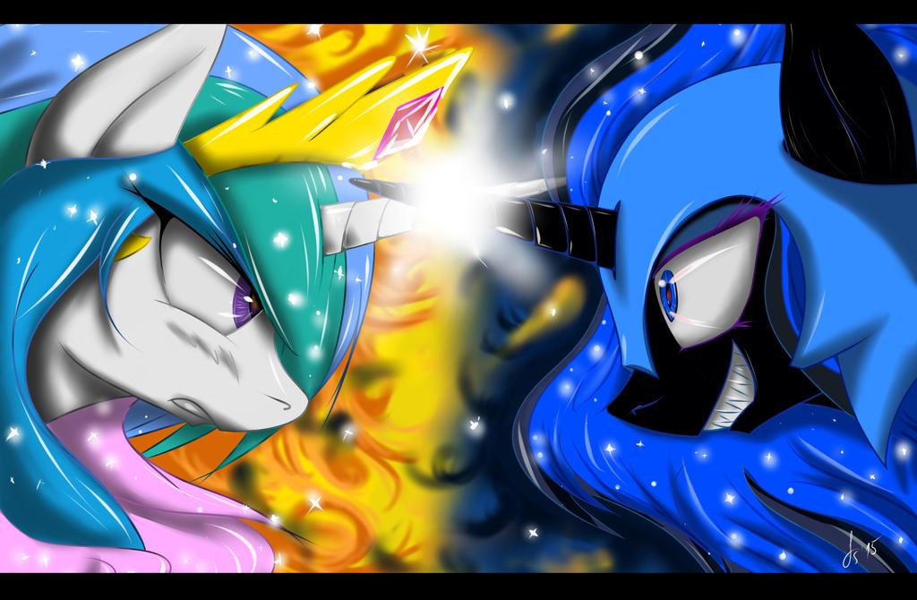 Celestia vs Nightmare Moon by FairySearch on DeviantArt