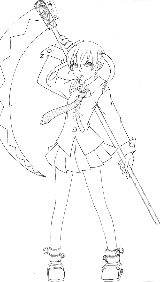 coloring pages of soul eater - photo#16
