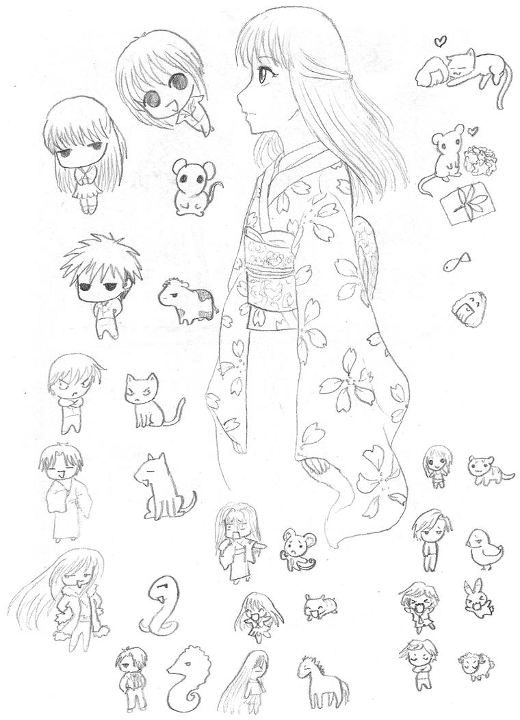 fruits basket yuki coloring pages - photo#19