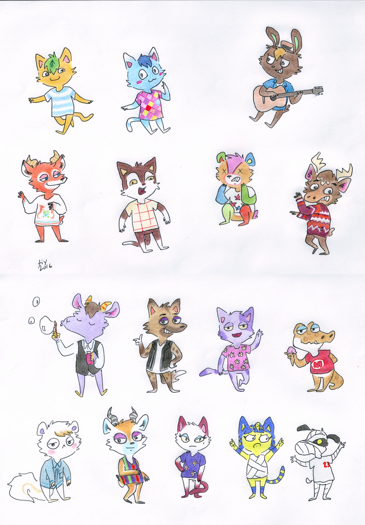 acnl doodles by title-it-yourself