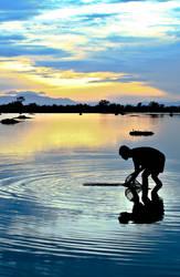 Morning Activity of Farmer by buridx
