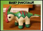 Little Dino Sculpture by balletvamp