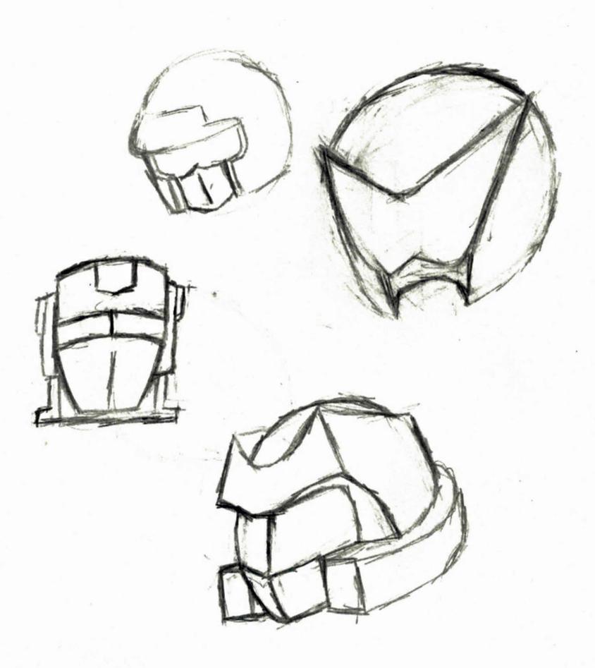 The Reality Rangers Secondary prototype helmets by Prowlfan1011