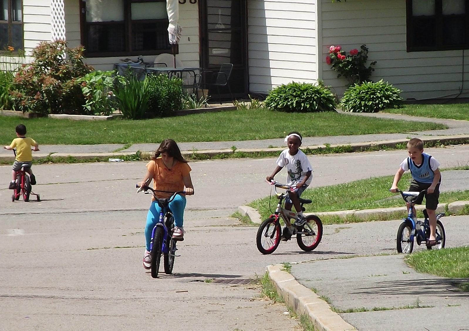 kids on bikes by HelmutDoork