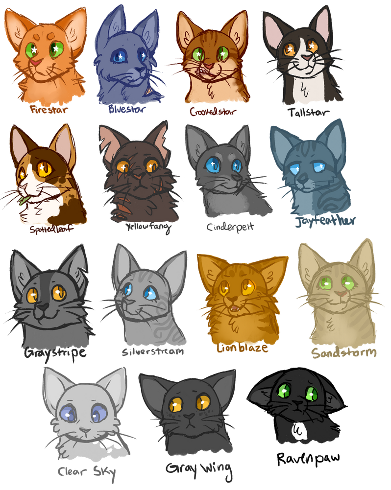 Warrior Cat Headshot