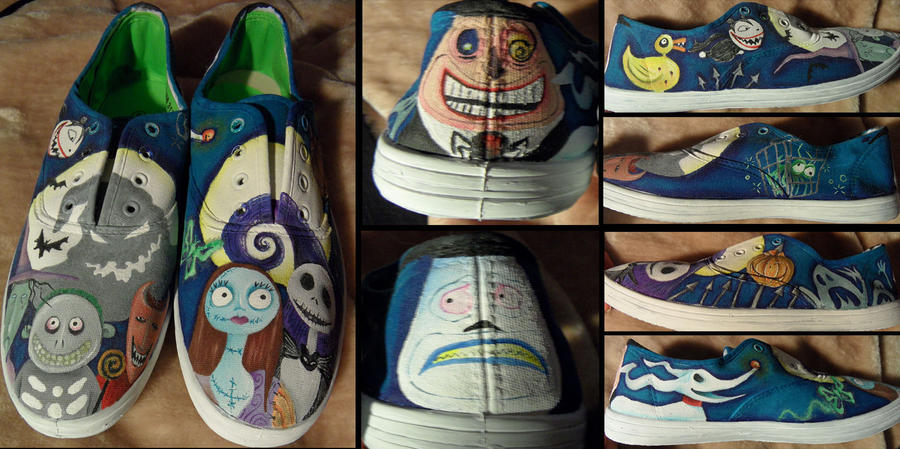 Nightmare Before Christmas Shoes by fionabird on DeviantArt