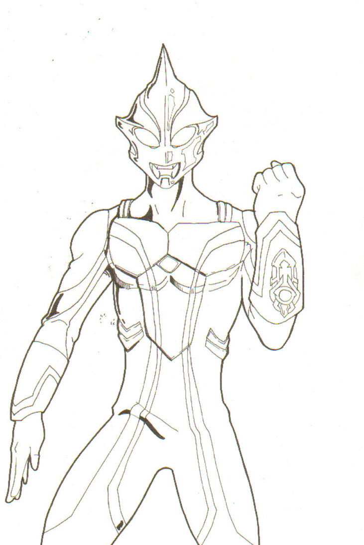 Coloring Pages Ultraman : Ultraman zero coloring pages