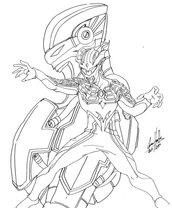 Ultraman Free Coloring Pages