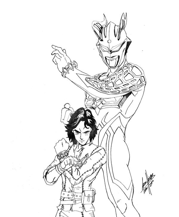 ultraman zero coloring pages - photo#21