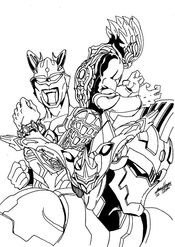 Ultraman Zero Coloring Pages Sketch Coloring Page