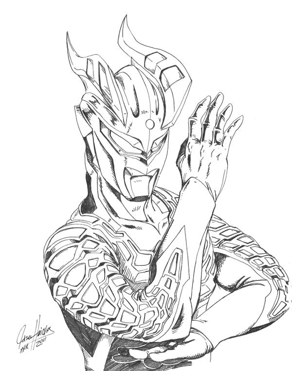 ultraman zero coloring pages-#7