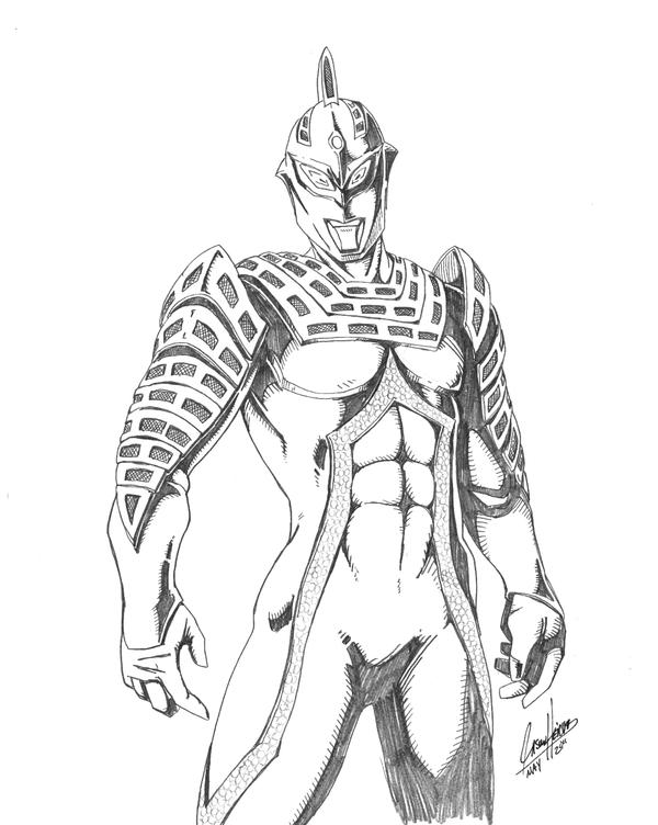 ultraman zero coloring pages - photo#35