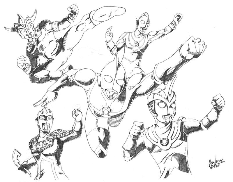 Coloring pages ultraman ultraman coloring book pages work