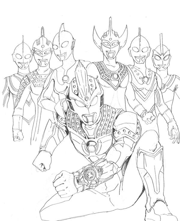 Coloring pages ultraman - Ultraman Ginga Victory Sketch Coloring Page