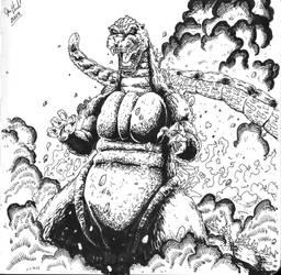 Heisei Godzilla by Jason-Heichel