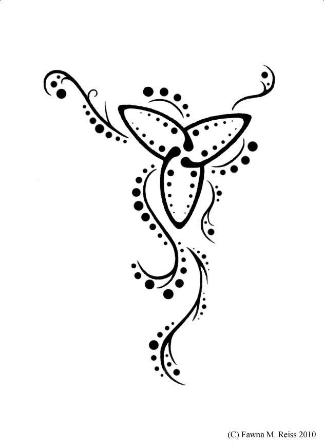 trinity symbol tattoo. trinity knot tattoo designs