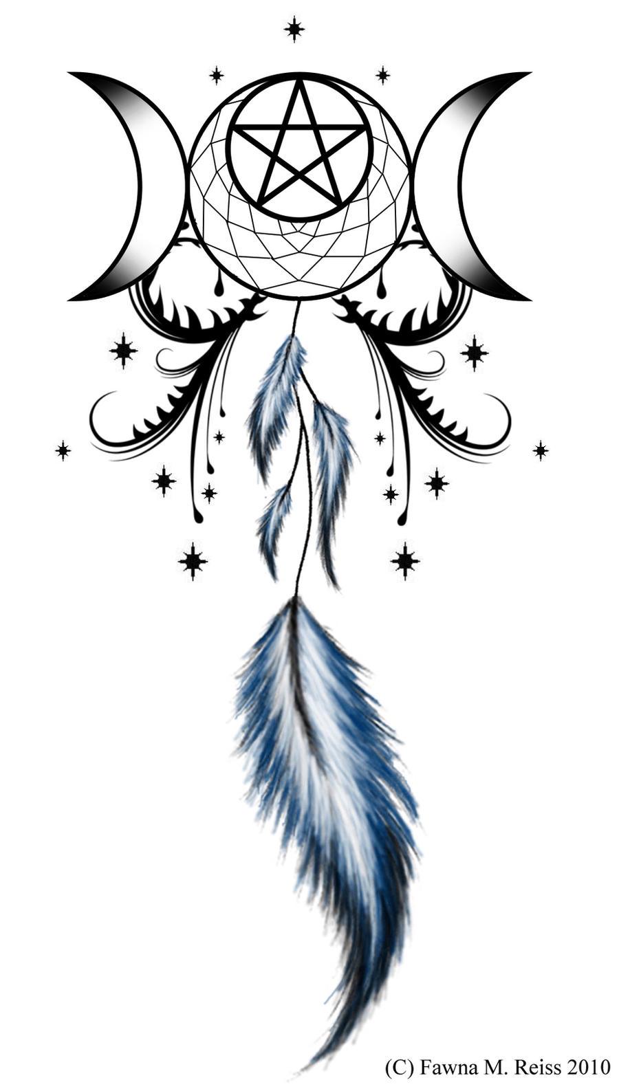 Moon Goddess Dreamcatcher by StargazerTats