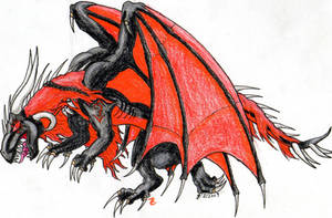 Art Trade Salambo Necro-Drakon by DragonHeartLuver