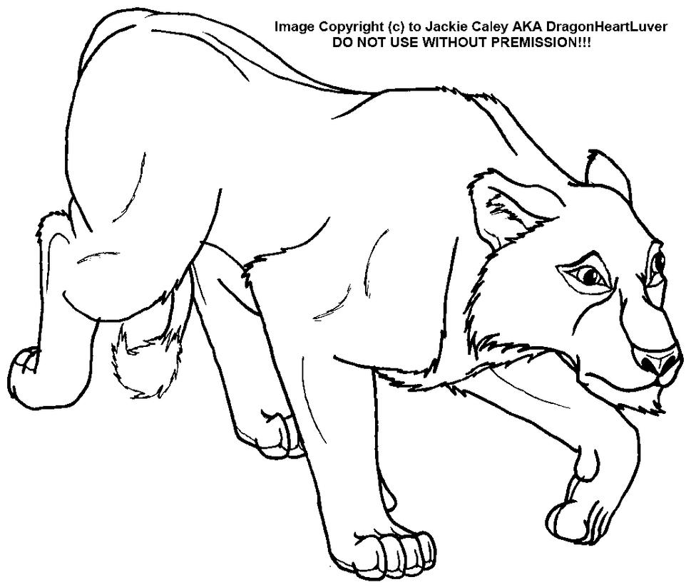 Cheetah lying down drawing