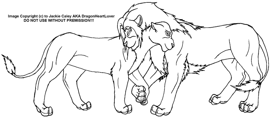 Line Art Lion : Lover lion s line art by dragonheartluver on deviantart