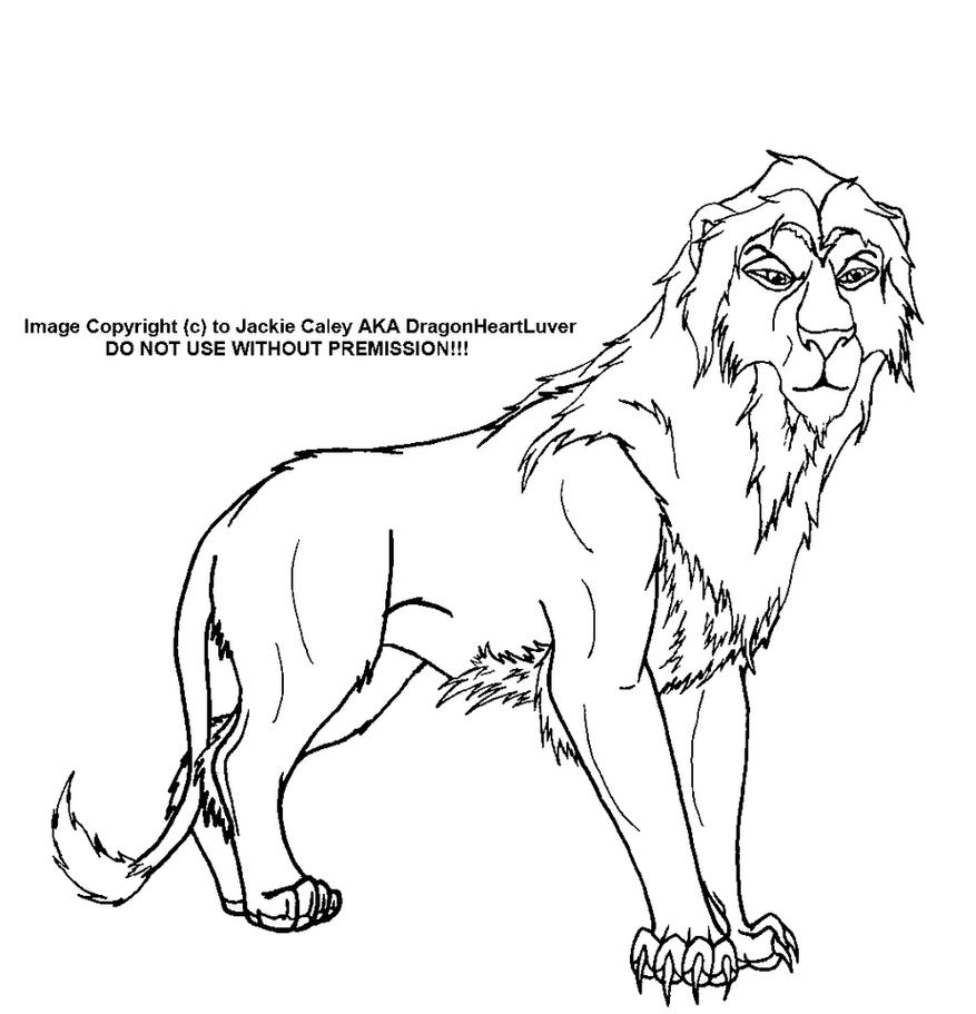 Line Art Lion : Lion lineart by dragonheartluver on deviantart