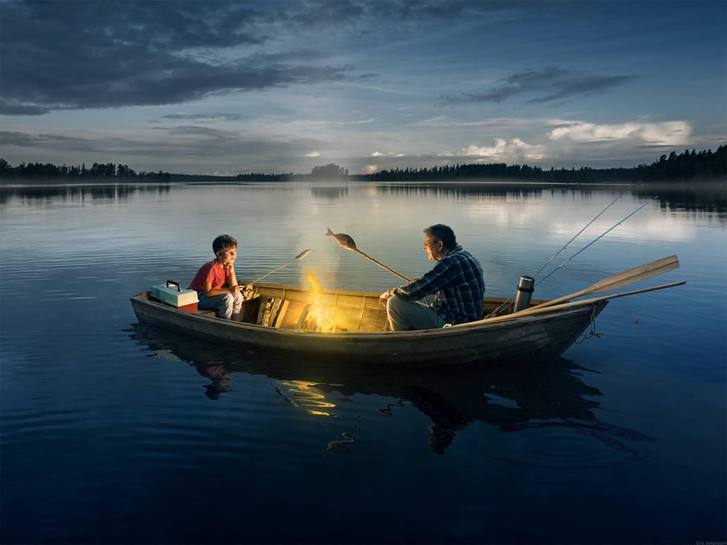 Fishing With Grandpa by alltelleringet