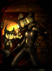 Bendy vs Projectionist by Inverted-Mind-Inc