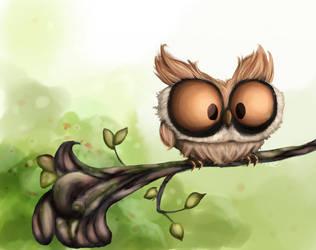 Owl Speedpaint by coffeeatthecafe