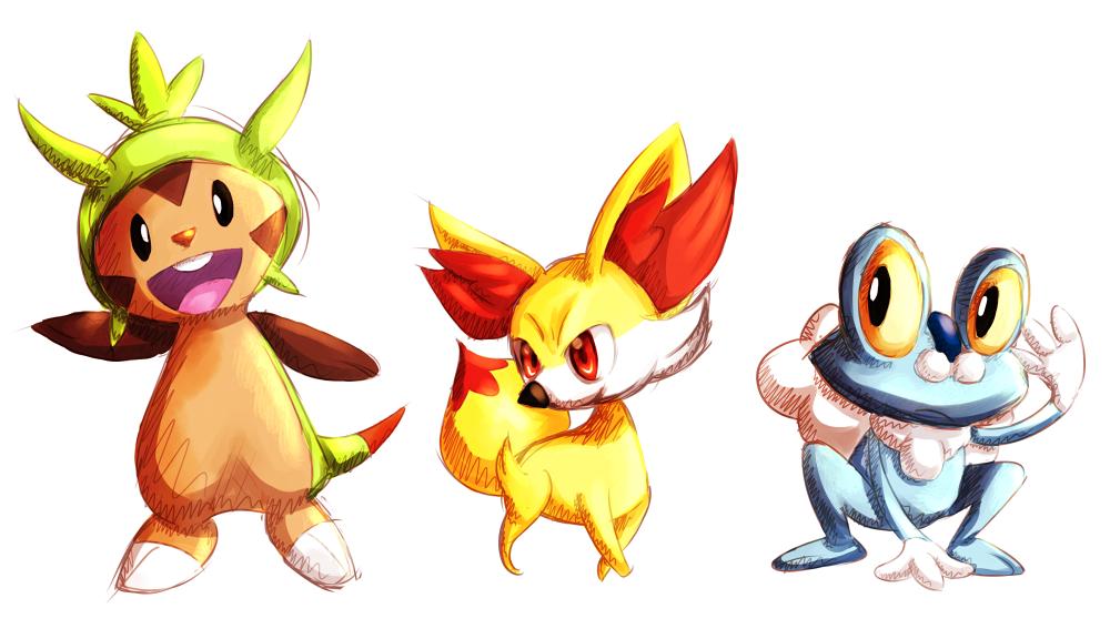 Chibi Pokemon X And Y Starters X y starter pokemon by