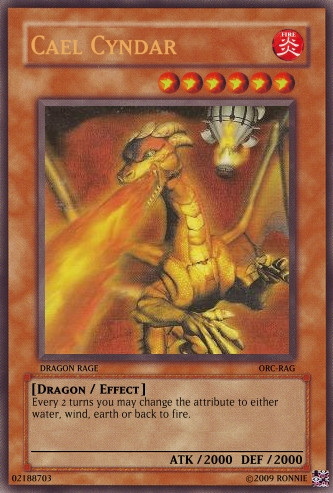 Cael Cyndar Yu-Gi-Oh Card by Ronnie-R15