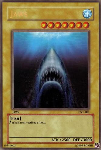 Jaws Yu-Gi-Oh Card by Ronnie-R15