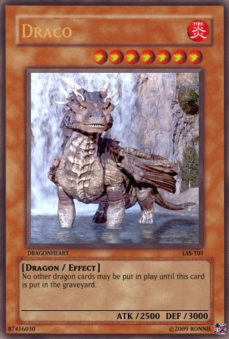 Draco Yu-Gi-Oh Card by Ronnie-R15